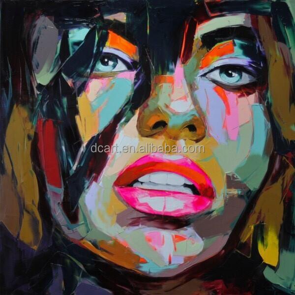 couteau peinture 224 l huile sur toile moderne femme portrait peintures peinture et calligraphie