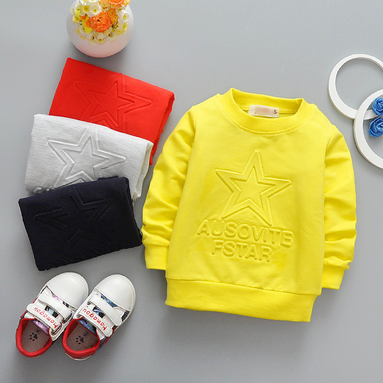 2017 kids polo shirts wholesale boutique cotton printing baby shirts 1-3T children plain long sleeve t shirt