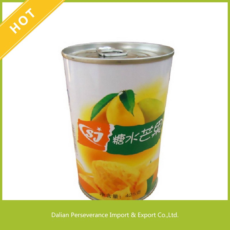 2017 Hot Sale Top Quality Fresh Natural Fruit Sliced Canned Mango