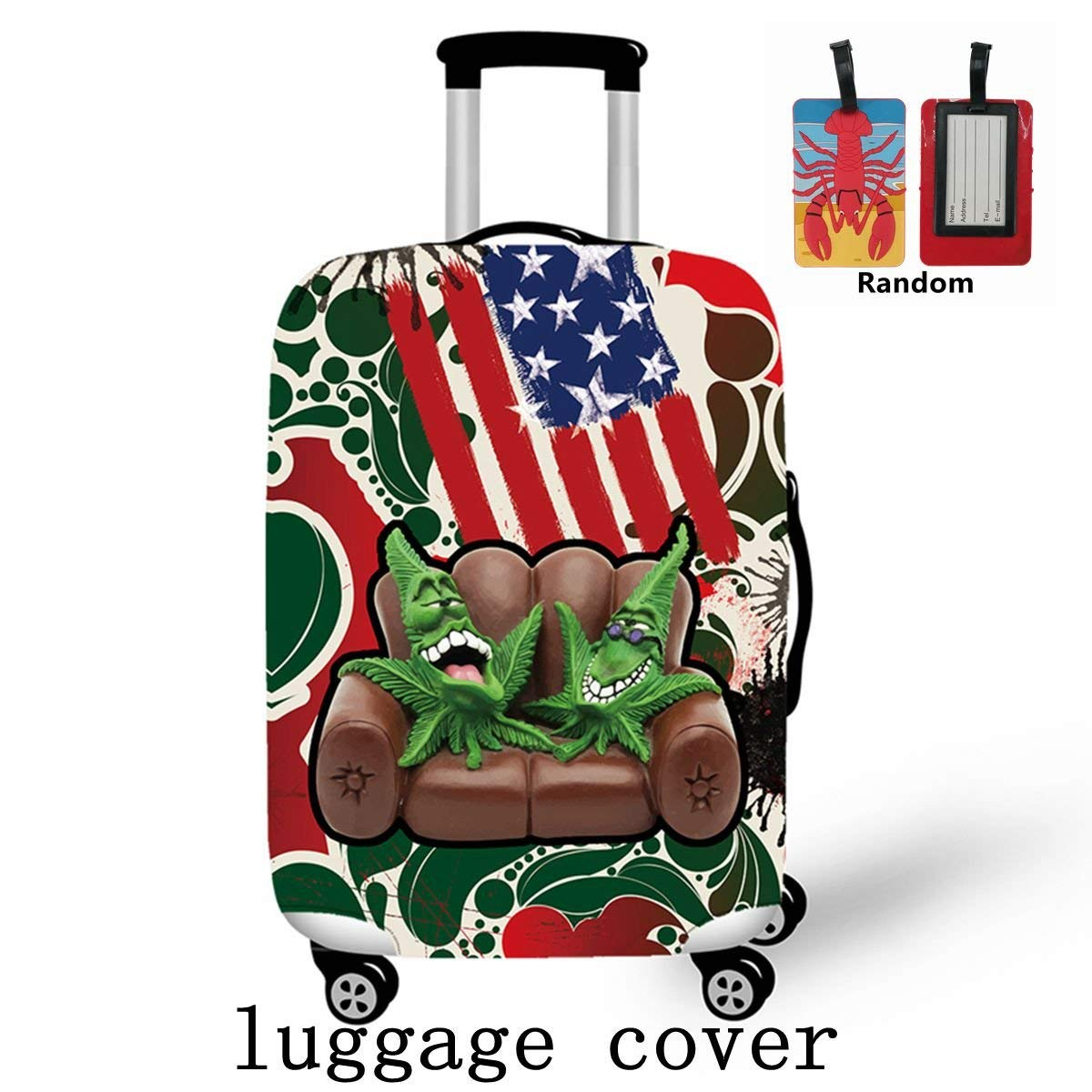 CAIWEI Cute 3D Luggage Protector Suitcase Cover 18-30 Inch For L 26-30 inch
