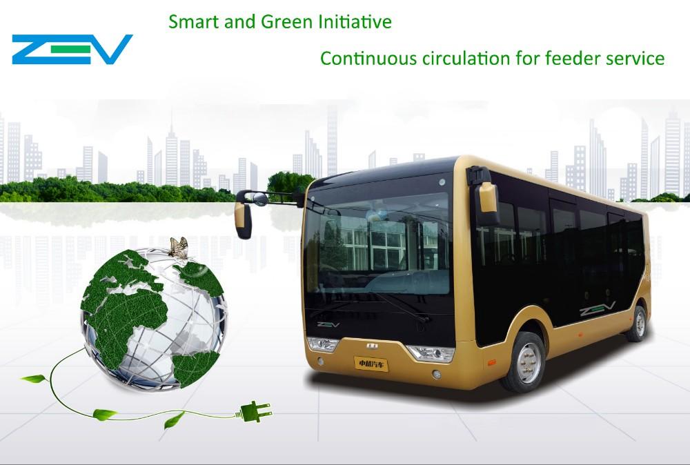 Zev Z10 10 Meters Electric Bus Zero Emission Car China Supplier ...
