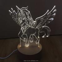 Elephant Dinosaur Tiger Unicorn Lamp Custom 3D Horse Led 3D Night Table Lamp