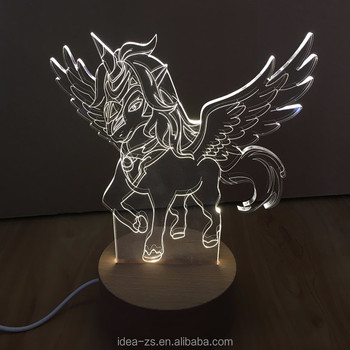 Table Buy Custom Horse Elephant Product Unicorn Lamp On Dinosaur Tiger 3d Lamp Night 3d Led Lamp custom 08nvmNwO