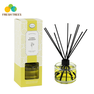 Customized wood stick glass bottles reed diffuser set
