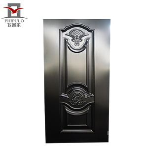 PHIPULO custom design steel door skin /stamped steel door skin /steel door sheet