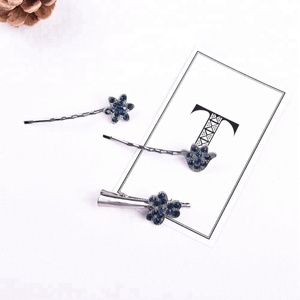 Kids Alligator Rhinestone Snap Hair Clips Metal Hair Pins Set