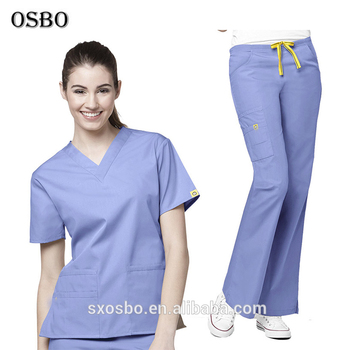 4934e5c7599 Custom Size Wholesale Fashion Nursing Scrubs