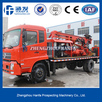 for water well drilling, hydraulic truck mounted HFT350A big rig trucks for sale