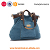 New Fasion Women Vintage Canvas Handbags Top Handle Tote Crossbody Shopping Bags