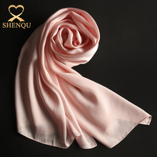 2017 new fashion satin hijab shawl women wholesale dubai 100% silk crepe satin scarf solid colors plain silk scarf