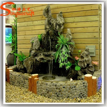 2015 China Indoor Wall Artificial Water Waterfall Stone Fountain ...
