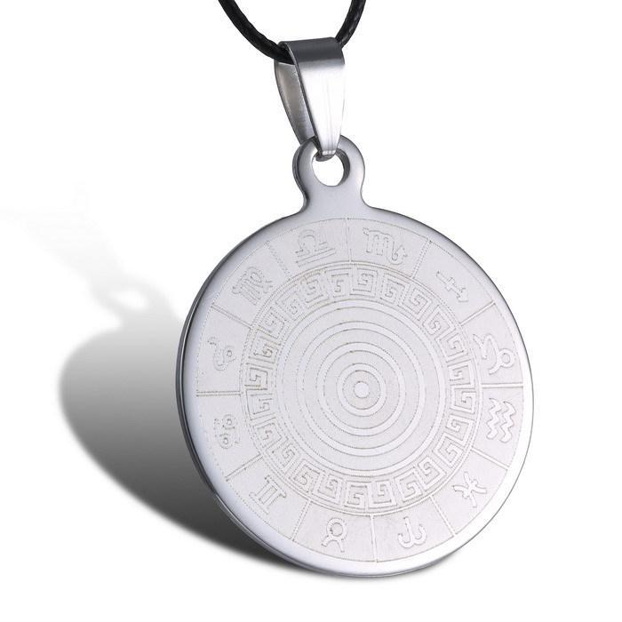 Cheap engraved necklaces for best friends find engraved necklaces get quotations trendy circle engraved necklace pattern pendant necklaces stainless steel jewelry 2015 necklaces for men minimalist handmade aloadofball Choice Image