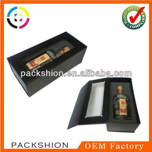 High end book shaped wine presentation box