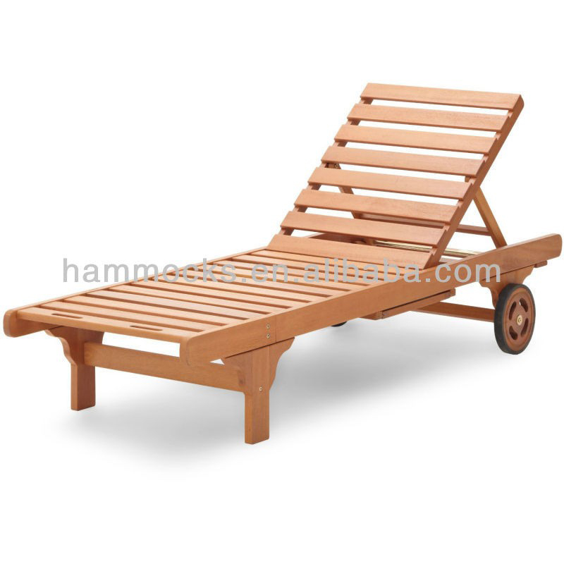 Wooden Outdoor Furniture Antique Wood Sleeping Swimming Pool Lounge Chair  With Wheels - Buy Wooden Outdoor Furniture,Antique Wood Chair,Wood Sleeping  ...