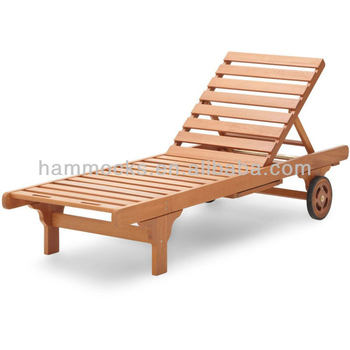 Wooden Outdoor Furniture Antique Wood Sleeping Swimming Pool Lounge