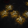 2016 LED Xmas String Hanging Star Shaped Christmas Party Decoration Christmas Tree Ornament Lights