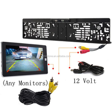 European License Plate Car Reversing Camera with Waterproof and night vision CAM-120M