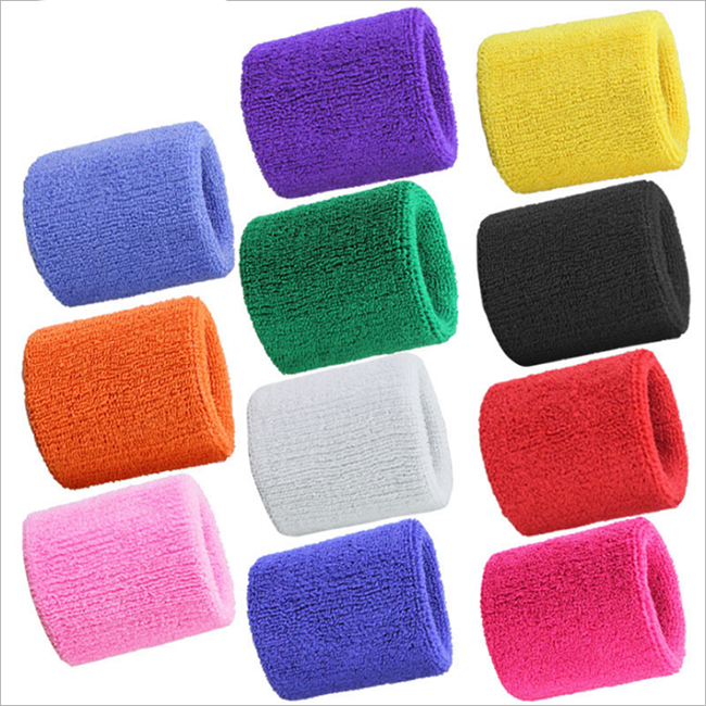 High elastic Breathable Terry Cloth Sports Sweat Wrist Band Support Avoid Injuries