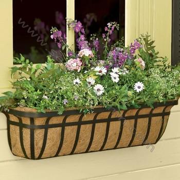 decorative metal window boxes planters - Window Box Planters