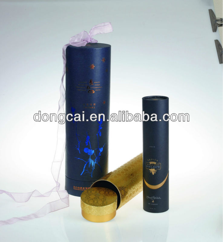 paper tube with ribbon