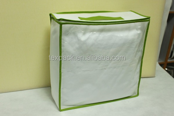 Guangzhou Clear Pvc Pe Peva Plastic Zipper Bag For Bedding
