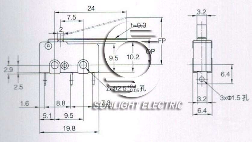 Wholesale CE UL approval IP40 IP67 S-5GL3 kw3 t85 5e4 spdt long ...