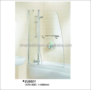 Frameless Pivot Hinge Folding Bath Shower Screen EU8801