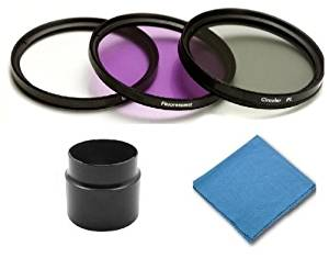SAVEoN Professional Lens Kit for Canon Powershot S5 IS - Includes: 58mm Filter Kit (UV, Fluorescent, Polarizer) + Lens Adapter Tube + SAVEoN Cleaning Cloth