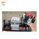 Portable gasoline/petrol air cooler engine powered wire cable winch puller machine