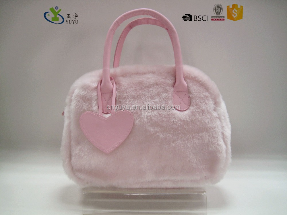Lovely Winter clutch purse in pink for girls