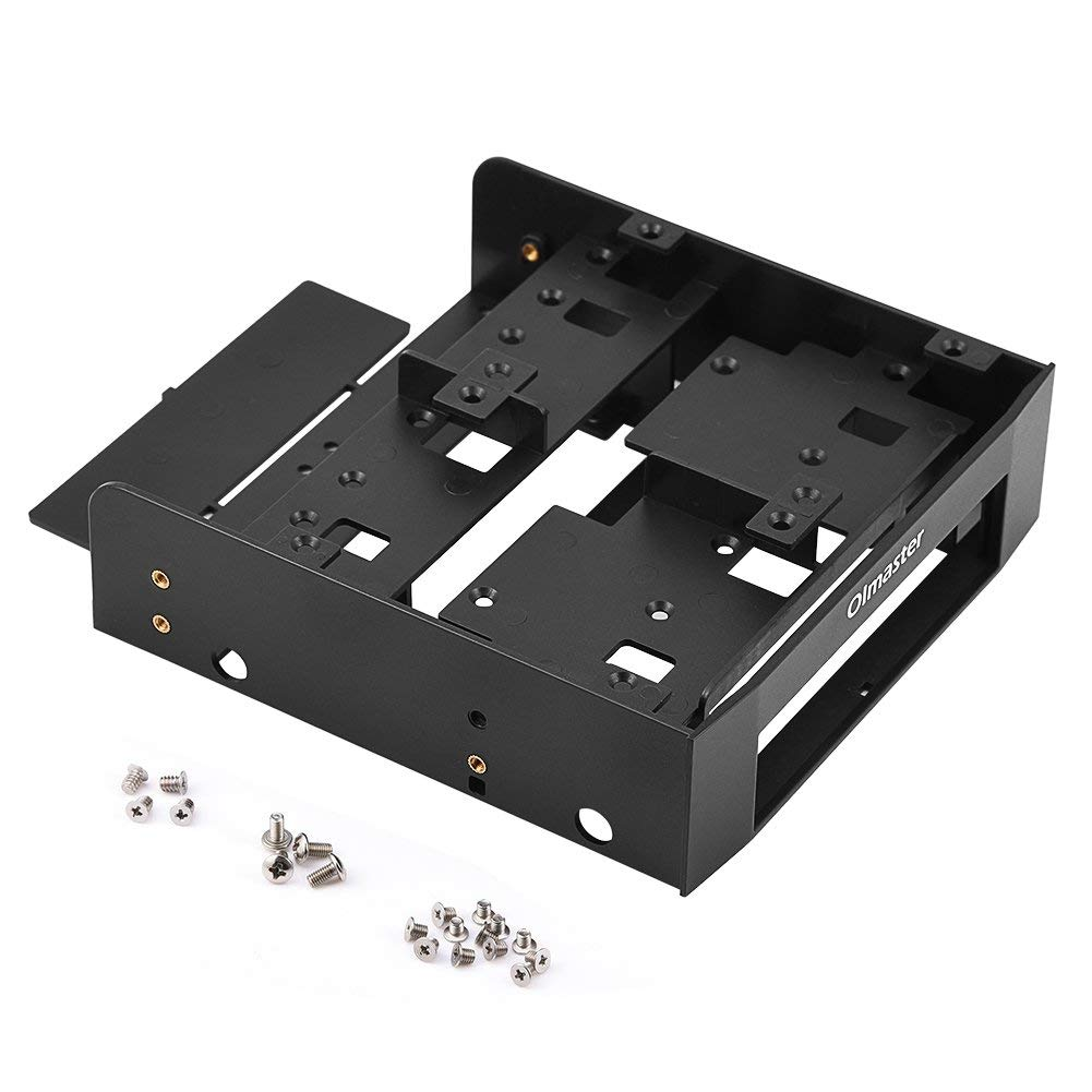 "Richer-R Hard Drive Bracket, 2.5"" / 3.5"" HDD/SSD to 5.25"" Floppy-Drive Bay Computer Mounting Bracket Adapter"
