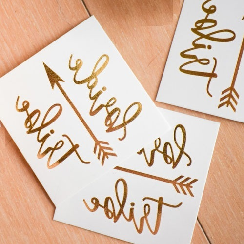 Custom gold temporary bride tribe tattoo sticker buy for Custom tattoo stickers
