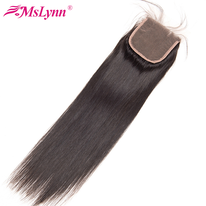 Wholesale 100 human hair 4X4 Brazilian water wave remy lace closure
