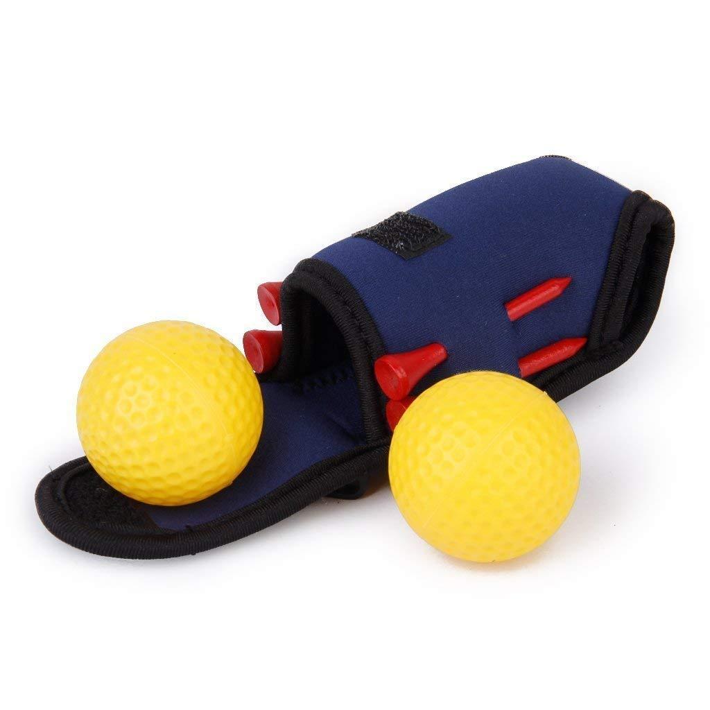 SODIAL(R) Golf ball holder bag Mini Tees 2 Ball 4 Tees Gift Set