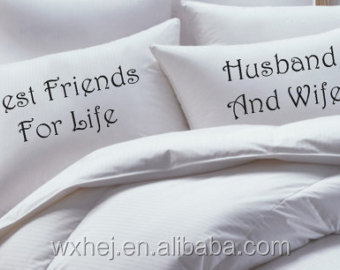 Wholesale Custom Printed Couple Pillow Case The Mr And Mrs Pillowcases -  Buy Custom Printed Pillow Case,Couple Pillow Case,Personalized Pillow Cases