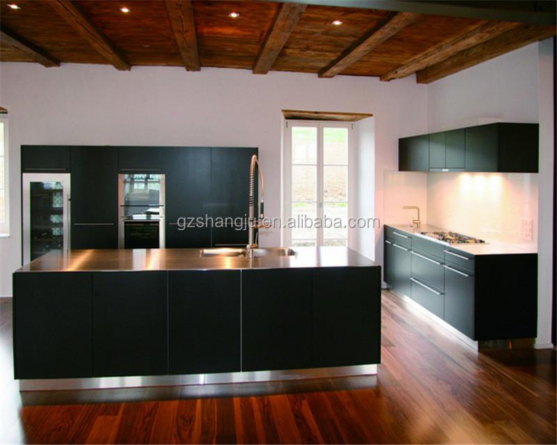 Multifunctional Zebra Wood Melamine Doors Kitchen Cabinet Product On Alibaba