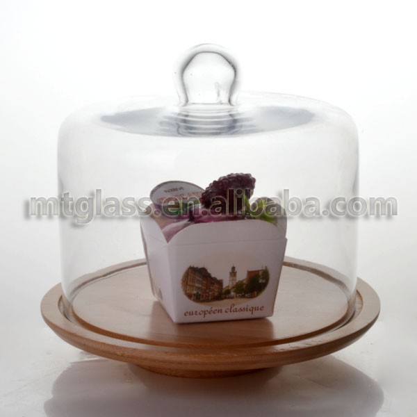 Glass cake display stand