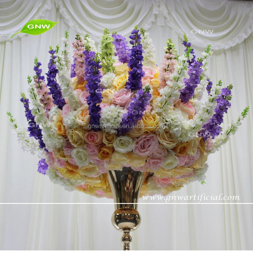 Gnw Ctra 1708001 3 Artificial Silk Delphinium Flower Ball For Indian