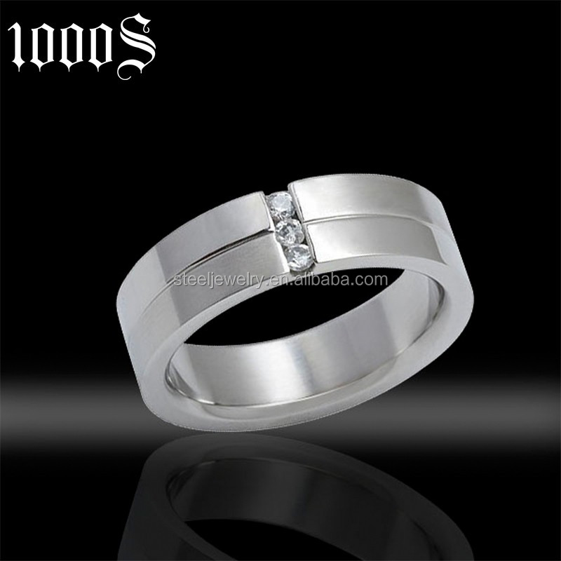 wholesale promotion zircon stone tungsten man ring for wedding