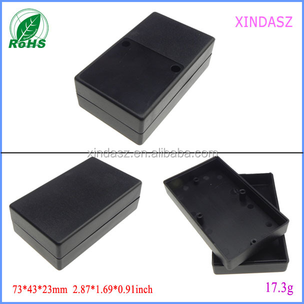 Black Waterproof Plastic Cover Project Electronic Instrument Case Enclosure Box 73*43*24mm
