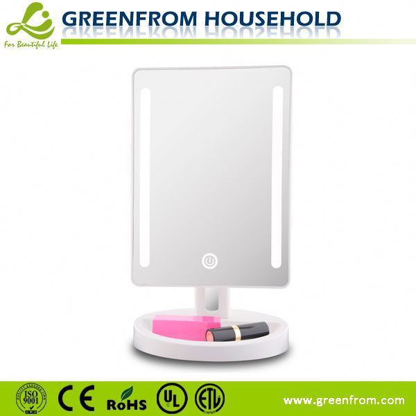 USB charging hole touch sensor lighted vanity girl hollywood makeup stand mirror for desk