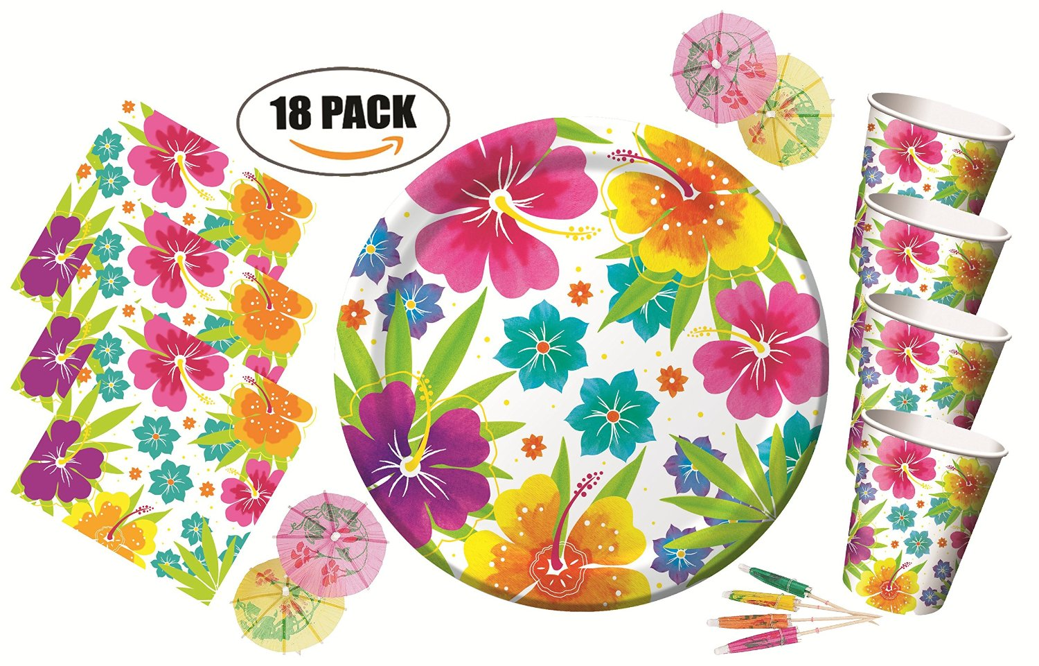 Get Quotations · Tropical Luau Hawaiian Party Pack - Tableware for 18 Guests and Decoration - Plates Cups  sc 1 st  Alibaba & Cheap Luau Tableware find Luau Tableware deals on line at Alibaba.com