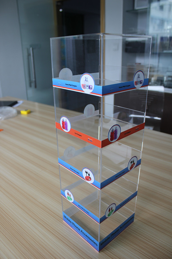5-tier Counter Plexiglass Mobile Accessories Display Phone Charger ...