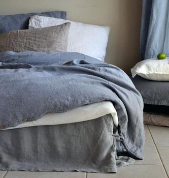 Linen Bed Sheets Stone Washed Bedding Sheet Set