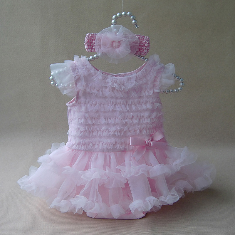Newborn Baby Girl Ruffle font b Dress b font Clothes Princess Style Summer Girls Romper font