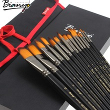 OEM Detail Paint Brushes - 15 Pc Art Brush Set for Watercolor, Acrylic, Oil, Painting brush Long Handle Artist