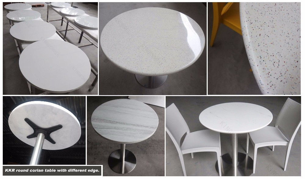 acrylic solid surface stone fast food restaurant table and chair design