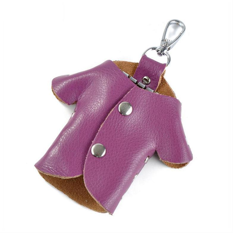 New Fashion Key Wallets Candy Color High Quality Cute For Keys Genuine Leather Holder Chain Bag Wallet Purse