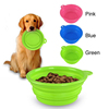 Factory Wholesale BPA Free Silicone Travel Foldable Bowl for Pet and Dog
