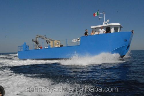 17m Aluminum Work Boat For Aquaculture Aluminum Catamaran
